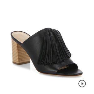 Brand new Loeffler Randall black leather heel
